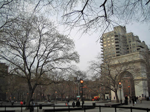 Dusk in Washington Square